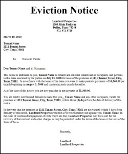 Tenant Eviction Letter Template. 45 Eviction Notice Templates ...